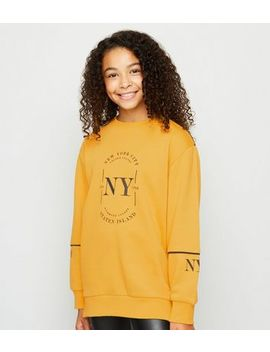 Girls Mustard Nyc Circle Logo Sweatshirt by New Look