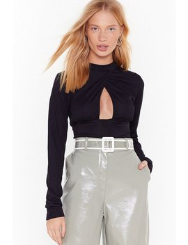 Come Find Cut Out High Neck Ribbed Bodysuit by Nasty Gal