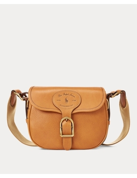 Leather Large Hutton Crossbody by Ralph Lauren