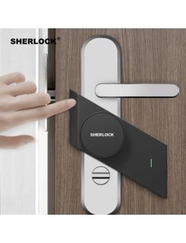 Sherlock S2 Smart Door Lock Home Keyless Lock Fingerprint + Password Work To Electronic Door Lock Wireless App Bluetooth Control by Ali Express.Com