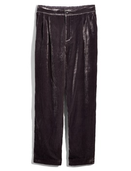 Velvet Tapered Pleat Pull On Pants by Madewell