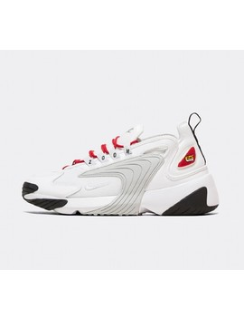 Womens Zoom 2 K Trainer   White / Pure Platinum / Gym Red by Nike