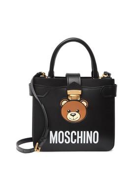 Teddy Bear Leather Satchel by Moschino