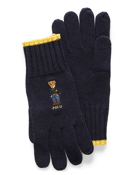 Embroidered Teddy Bear Gloves by Polo Ralph Lauren