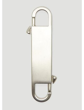 Twin Keyring In Silver by Rick Owens