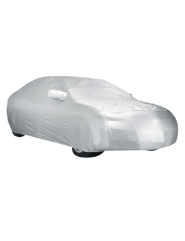 Dustproof Waterproof Breathable Silver White Car Cover Durable For Honda Civic by Unique Bargains