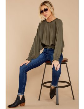 Take My Love Olive Top by Mustard Seed
