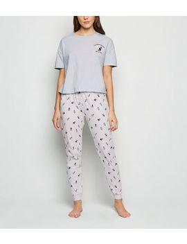 Blue Frenchie Dog Pyjama Set by New Look