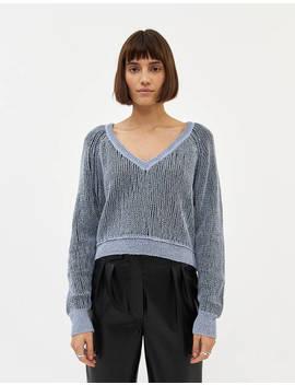 Alina Crop Knit In Grey by Stelen Stelen