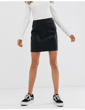 New Look   Mini Jupe En Similicuir   Noir by New Look