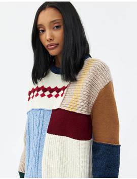 Wool Patchwork Sweater by Alexa Chung Alexa Chung