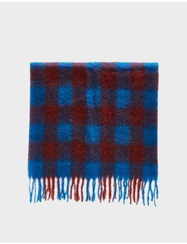 Lajor Scarf In Imperial Blue Check by Rodebjer Rodebjer