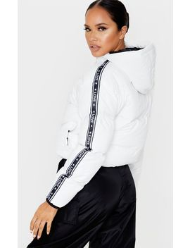 White Love Puffer Jacket by Prettylittlething