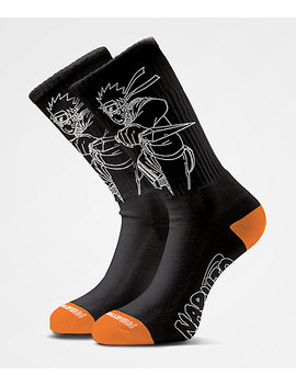 Primitive X Naruto Uzumaki Black Crew Socks by Zumiez