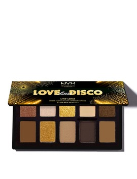 Nyx Professional Makeup Love Lust & Disco Eyeshadow Warm Nude And Gold Palette Livin Lavish 10 X 1.1g by Nyx Professional Makeup
