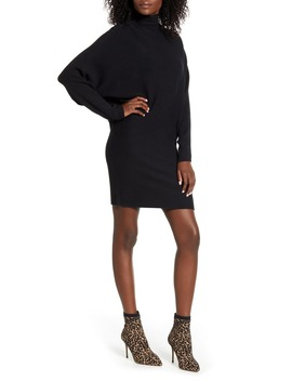 Long Sleeve Turtleneck Sweater Dress by Leith