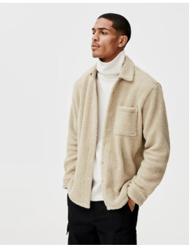 Faux Shearling Overshirt by Pull & Bear