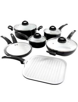 Herstal 11 Piece Black Cookware Set by Oster