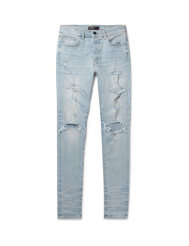 Thrasher Plus Skinny Fit Distressed Stretch Denim Jeans by Amiri