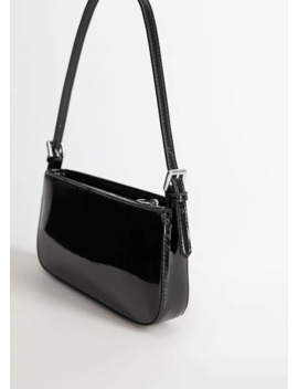 Patent Leather Baguette Bag by Mango