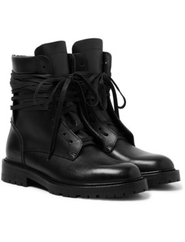 Leather Boots by Amiri