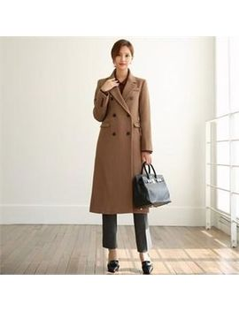 Chicline   Tall Size Double Breasted Wool Blend Coat by Chicline