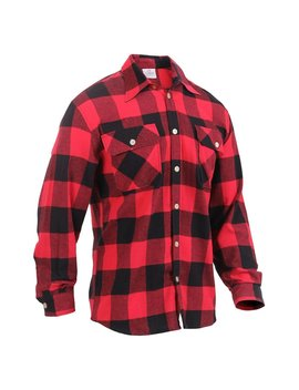 Rothco Lightweight Flannel Shirt   Red Plaid, Medium by Rothco