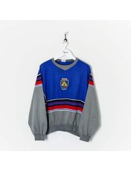 Adidas Sweatshirt Blue/Grey/Red Large by Adidas