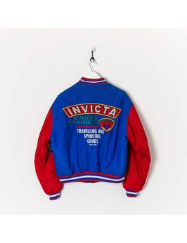 Invicta Bomber Jacket Blue/Red Large by True Vintage Clothing