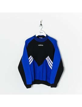 Adidas Sweatshirt Black/Blue/White Large by Adidas