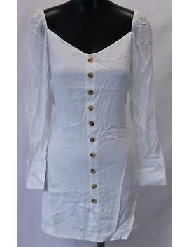 Nasty Gal Women's Long Sleeve Blank Slate Mini Dress Jh7 White Size Us:8 Nwt by Ebay Seller