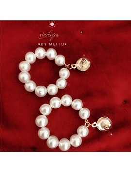 2019 New Fashion Jewelry White Imitation Pearl Earrings Big Round 6mm Pearl Earrings Statement Earrings For Woman by Ali Express.Com