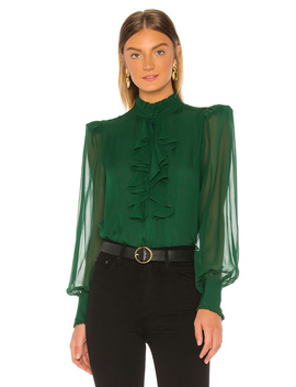 Ruffle Front Top by Divine Heritage