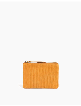 The Pouch Wallet In Corduroy Suede by Madewell