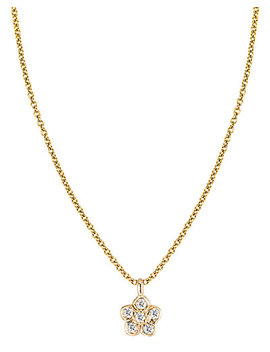 Ariana Rabbani 14 K Diamond Flower Necklace by Ariana Rabbani