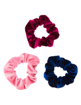 Claire's Club Berry Velvet Hair Scrunchies   3 Pack by Claire's