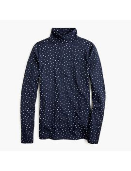 Tissue Turtleneck In Polka Dots by J.Crew