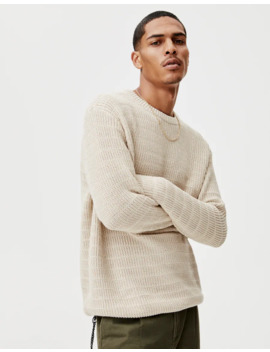 Round Neck Open Knit Sweater by Pull & Bear