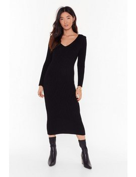 Laid Back And Low Key Longline Sweater by Nasty Gal