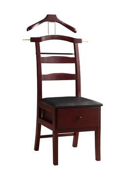Vl16142 Manchester Chair Valet Mahogany Finish by Proman Products