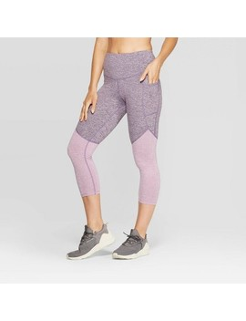 "Women's Studio High Waisted Colorblock Capri Leggings 20""   C9 Champion® by C9 Champion"