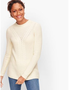 Cableknit Shaker Stitch Sweater by Talbots