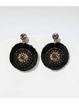 Crystal Fabric Drop Earrings by Loft