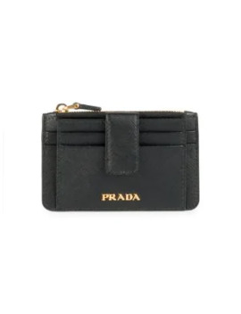 Small Saffiano Leather Zip Wallet by Prada