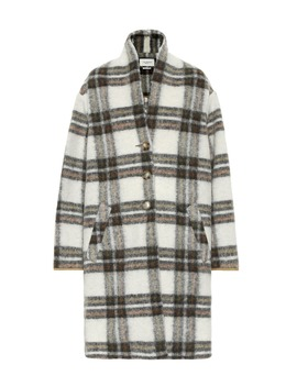 Gabriel Checked Wool Blend Coat by Isabel Marant, Étoile