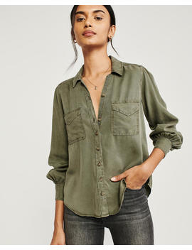 Long Sleeve Utility Shirt by Abercrombie & Fitch