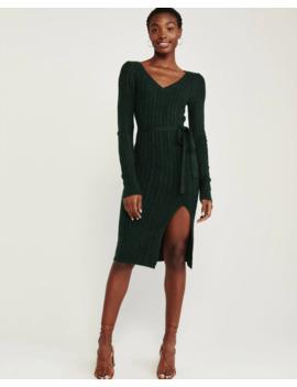 Tie Waist Sweater Dress by Abercrombie & Fitch