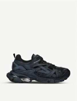 Track 2.0 Leather And Mesh Trainers by Balenciaga