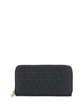 Fendi Zucca Logo Zip Wallet by Fendi