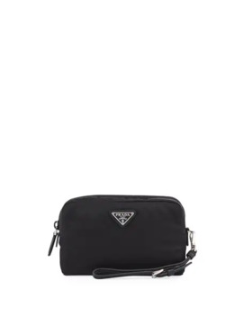 Prada Nylon Cosmetic Zip Pouch Bag by Prada